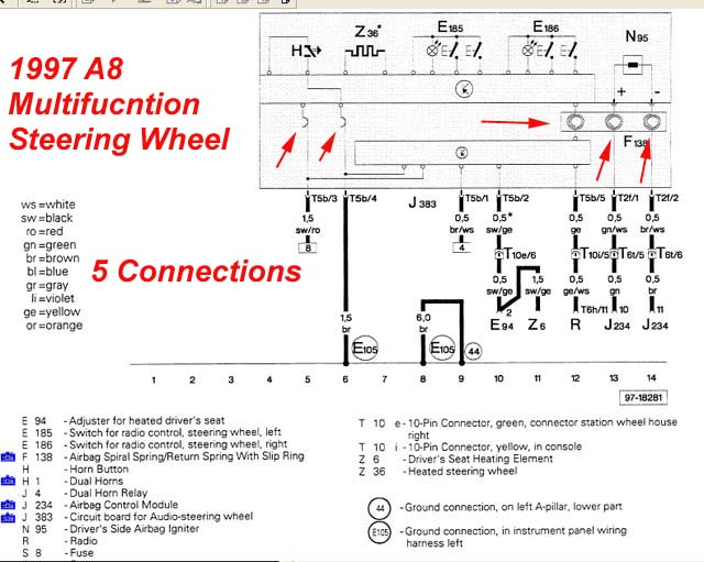2003 Audi A6 Steering Column Wiring - Auto Electrical Wiring Diagram •