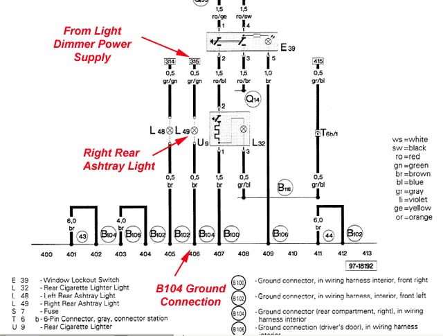 Audi A3 Rear Lights Wiring Diagram Example Electrical