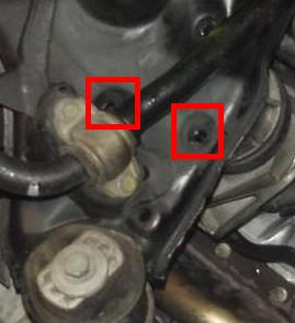 Engine bolts to remove