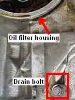 Oil cooler drain bolt