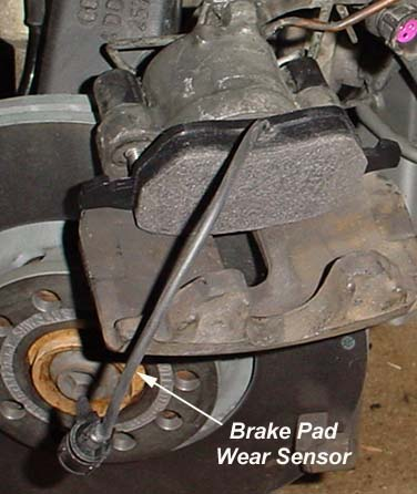 Audi area: Audi A8 Troubleshooting the Front Brake Pad Sensor ...