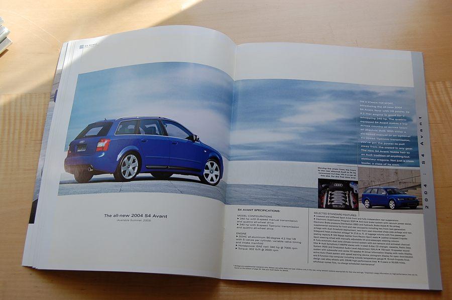 2004 audi s4 brochure