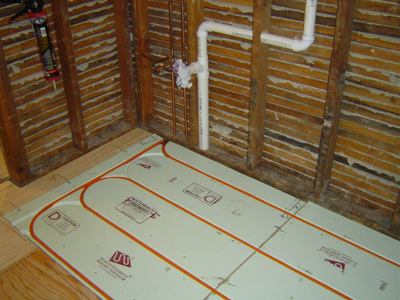 Schluter kerdi shower system fine homebuilding breaktime for Warmboard problems